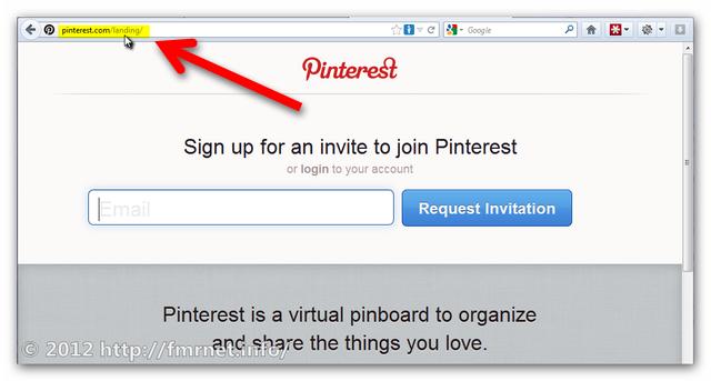 Änderung der Pinterest URL