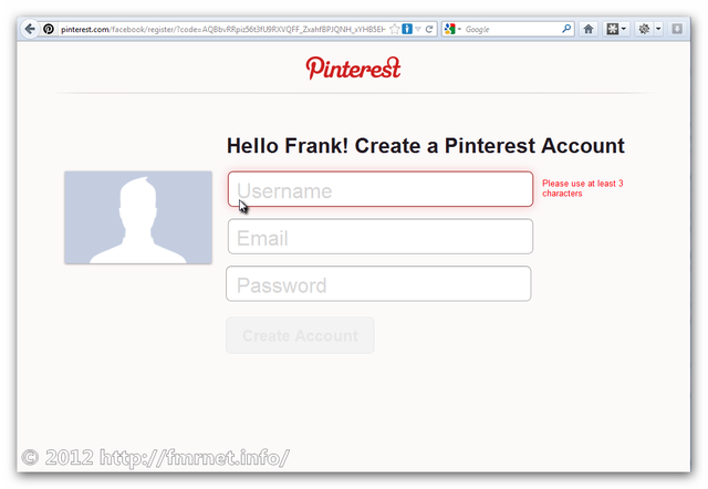 Pinterest Signup