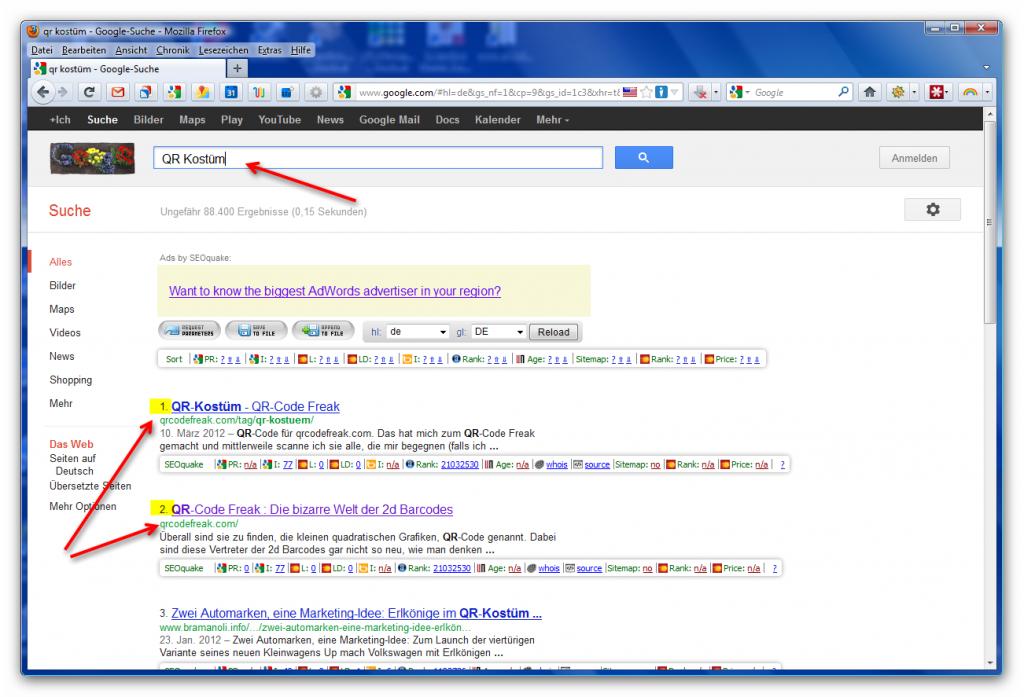 Google-Suche-Mozilla-Firefox